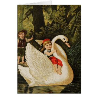 Hansel and Gretel and the Swan Greeting Card