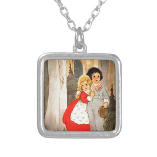 Hansel and Gretel at Forest's Edge Pendant