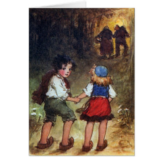Hansel and Gretel Head Into the Woods Card