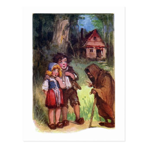 Hansel and Gretel Meet the Witch Post Cards