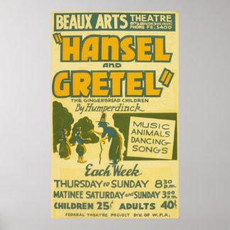 Hansel and Gretel - Opera by Engelbert Humperdinck Poster