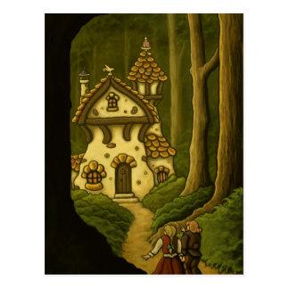 Hansel Gretel fairytale art postcard