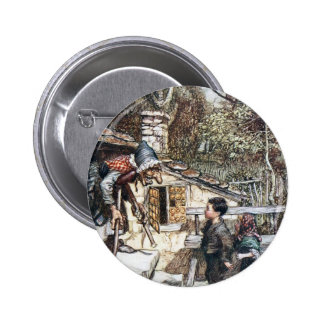 Hansel & Grethel meet the Witch 6 Cm Round Badge