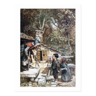 Hansel & Grethel meet the Witch Postcard