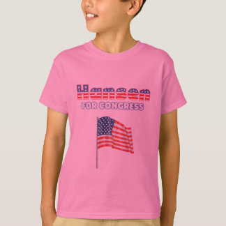 Hansen for Congress Patriotic American Flag T-Shirt