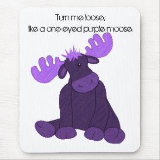 Hanson Purple Moose Mouse Mat