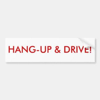 Hant-up & drive bumper sticker
