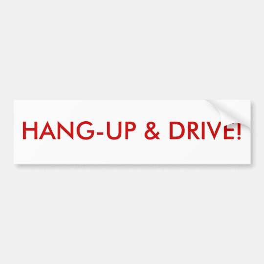 Hant-up & drive bumper sticker
