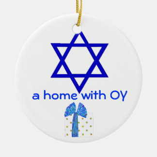 Hanukkah and Christmas Holidays Christmas Ornament