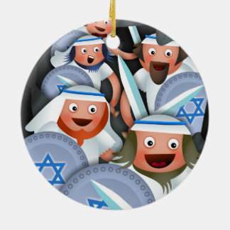 Hanukkah and the Maccabees Round Ceramic Decoration