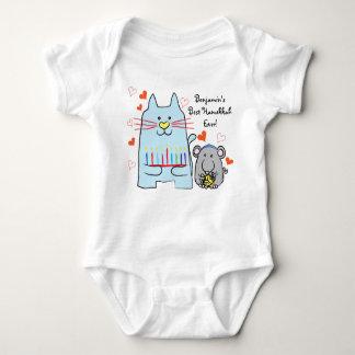 Hanukkah Baby Jersey Body Suit/Blue Cat and Mouse Baby Bodysuit