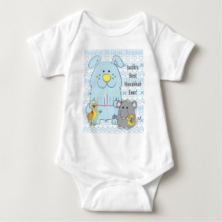 Hanukkah Baby Jersey Body Suit/Cat+Mouse+Bird Baby Bodysuit
