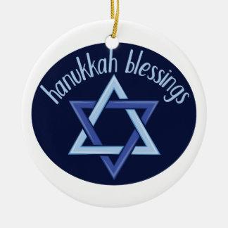 Hanukkah Blessings Christmas Ornament