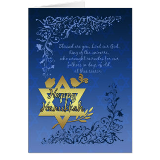 Hanukkah Blessings Greeting Card - Happy Hanukkah