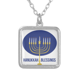 Hanukkah Blessings Silver Plated Necklace