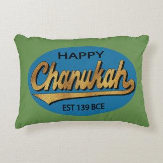 "Hanukkah Blue/Green Pillow ""Chanukah Retro BCE"""