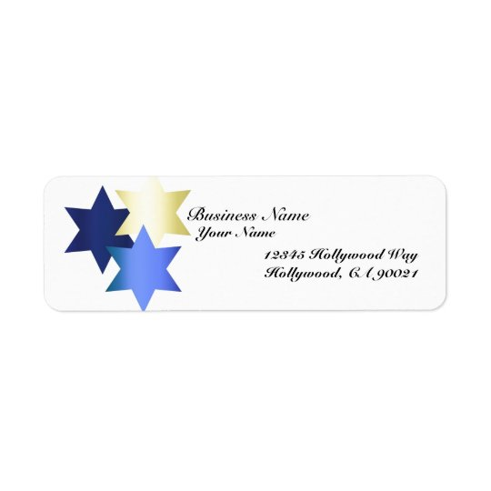 Hanukkah Business Address Labels