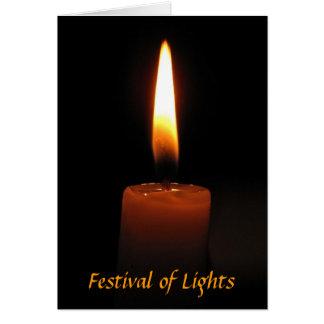 Hanukkah Candle Greeting Card