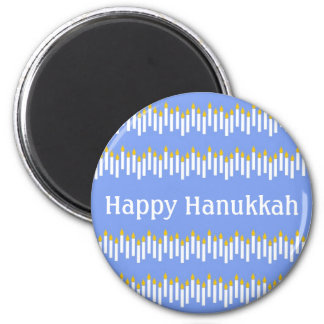 Hanukkah Candles on Blue Personalized Magnet