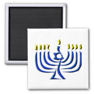 Hanukkah Candles Square Magnet