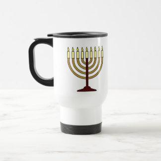 Hanukkah Candles Stainless Steel Travel Mug