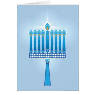Hanukkah Candles Star Of David Greeting Card