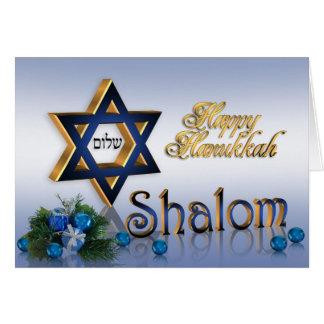 Hanukkah card Star of David Shalom