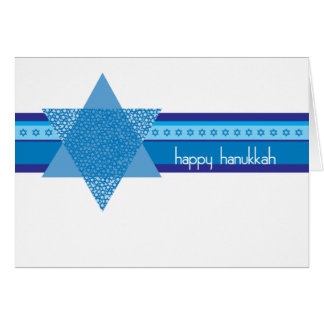 Hanukkah Card with Jewish Stars