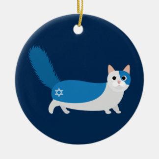 Hanukkah Cat Christmas Ornament