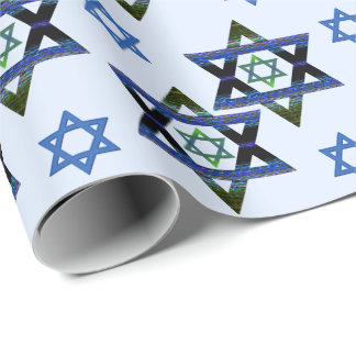 Hanukkah, Chanukah, Bar,Bat Mitzvah Star of David Wrapping Paper