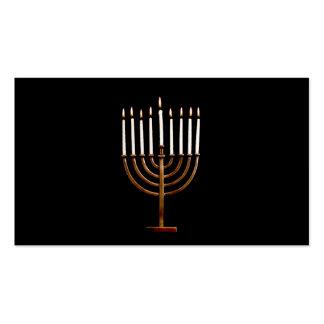 Hanukkah Chanukah Hanukah Hannukah Menorah Candles Business Card Templates