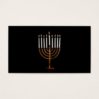 Hanukkah Chanukah Hanukah Hannukah Menorah Candles Business Card