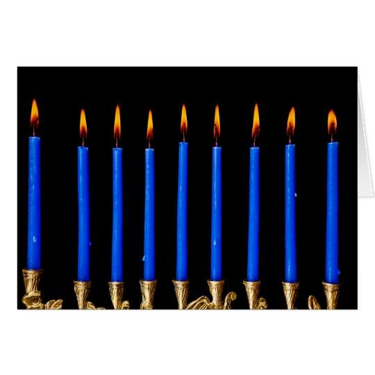 Hanukkah Chanukah Hanukah Hannukah Menorah Candles Card