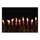 Hanukkah Chanukah Hanukah Menorah Burning Candles Personalised Invites