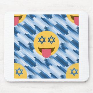 hanukkah chanukkah emoji mouse pad