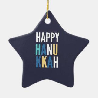 Hanukkah Characters Ceramic Star Decoration