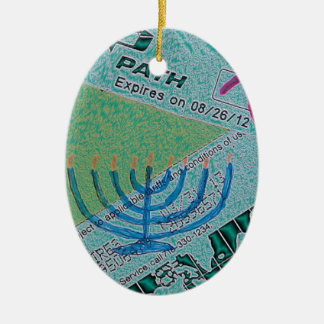 Hanukkah Collage Christmas Ornament