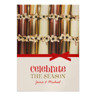 Hanukkah Crackers Holiday Cards Personalized Invite