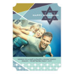Hanukkah Criss Cross Star of David Photo Holiday Personalised Announcements