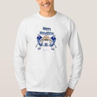 Hanukkah Dancing Dreidels and Jelly Doughnuts T-Shirt
