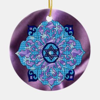 Hanukkah Double-Sided Ceramic Round Christmas Ornament