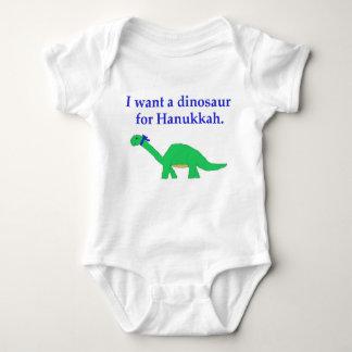 Hanukkah Dinosaur apparel Baby Bodysuit