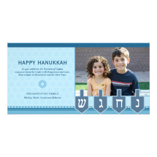 Hanukkah Dreidel Photo Card