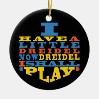 "Hanukkah ""Dreidel Play""/Circle Ornament"