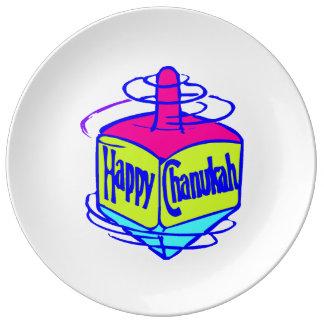 Hanukkah Dreidel Porcelain Plates