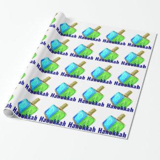 Hanukkah Dreidels Wrapping Paper