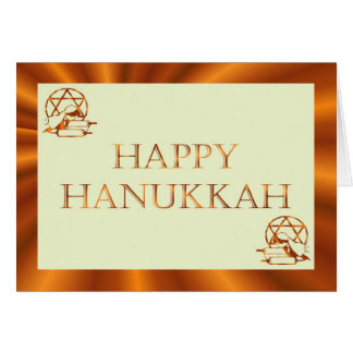 Hanukkah Festival of Light candles scrolls Jewish Greeting Card
