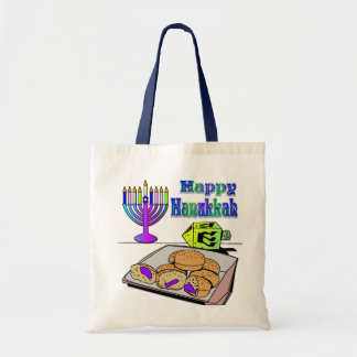 Hanukkah - Food, Dreidel, Menorah Bag