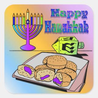 Hanukkah - Food, Dreidel, Menorah Sticker