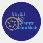 Hanukkah Gelt and Menorah Tees and GIfts Sticker